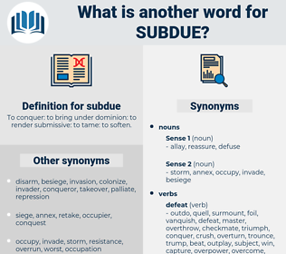 subdue, synonym subdue, another word for subdue, words like subdue, thesaurus subdue