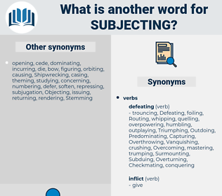 Subjecting, synonym Subjecting, another word for Subjecting, words like Subjecting, thesaurus Subjecting
