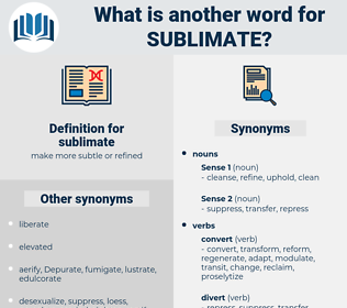 sublimate, synonym sublimate, another word for sublimate, words like sublimate, thesaurus sublimate