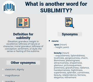 sublimity, synonym sublimity, another word for sublimity, words like sublimity, thesaurus sublimity