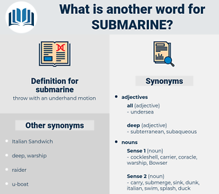 submarine, synonym submarine, another word for submarine, words like submarine, thesaurus submarine