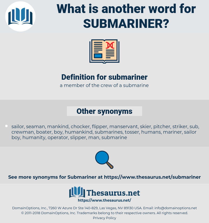 submariner, synonym submariner, another word for submariner, words like submariner, thesaurus submariner