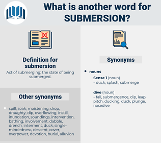 submersion, synonym submersion, another word for submersion, words like submersion, thesaurus submersion