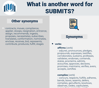 submits, synonym submits, another word for submits, words like submits, thesaurus submits