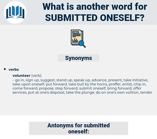 submitted oneself, synonym submitted oneself, another word for submitted oneself, words like submitted oneself, thesaurus submitted oneself