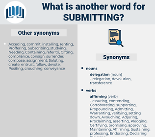 Submitting, synonym Submitting, another word for Submitting, words like Submitting, thesaurus Submitting