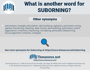 Suborning, synonym Suborning, another word for Suborning, words like Suborning, thesaurus Suborning