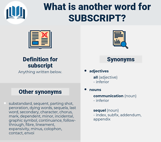 subscript, synonym subscript, another word for subscript, words like subscript, thesaurus subscript