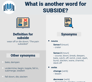 subside, synonym subside, another word for subside, words like subside, thesaurus subside