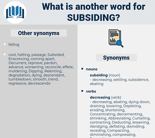subsiding, synonym subsiding, another word for subsiding, words like subsiding, thesaurus subsiding