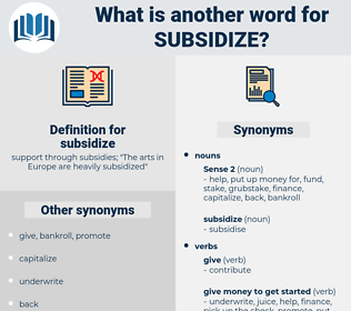 subsidize, synonym subsidize, another word for subsidize, words like subsidize, thesaurus subsidize