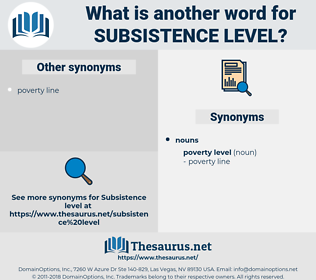 subsistence level, synonym subsistence level, another word for subsistence level, words like subsistence level, thesaurus subsistence level