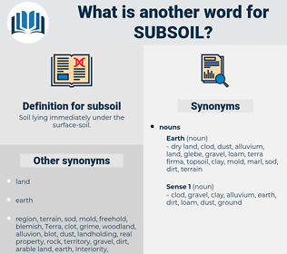 subsoil, synonym subsoil, another word for subsoil, words like subsoil, thesaurus subsoil