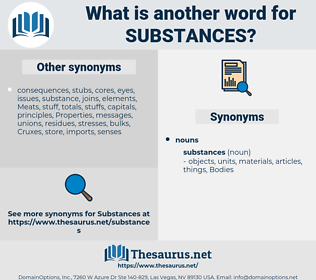 substances, synonym substances, another word for substances, words like substances, thesaurus substances