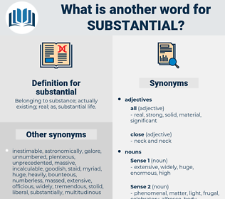 substantial, synonym substantial, another word for substantial, words like substantial, thesaurus substantial