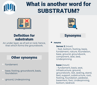 substratum, synonym substratum, another word for substratum, words like substratum, thesaurus substratum