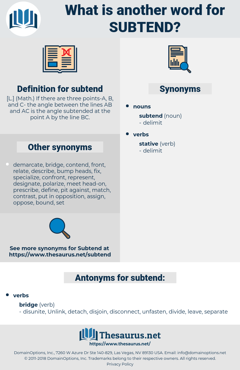 subtend, synonym subtend, another word for subtend, words like subtend, thesaurus subtend