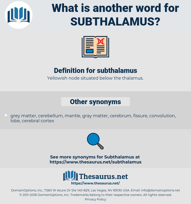 subthalamus, synonym subthalamus, another word for subthalamus, words like subthalamus, thesaurus subthalamus
