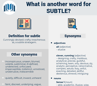 Synonyms For Subtle Thesaurus Net All another words for subtle in best online dictionary wordpanda.net. synonyms for subtle thesaurus net
