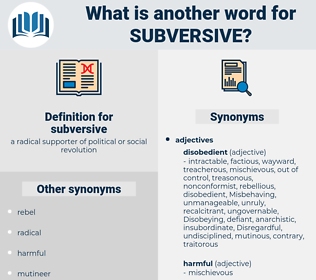 subversive, synonym subversive, another word for subversive, words like subversive, thesaurus subversive