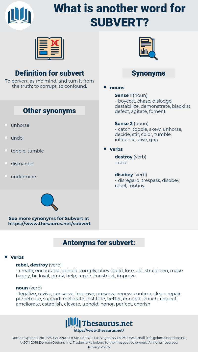 subvert, synonym subvert, another word for subvert, words like subvert, thesaurus subvert