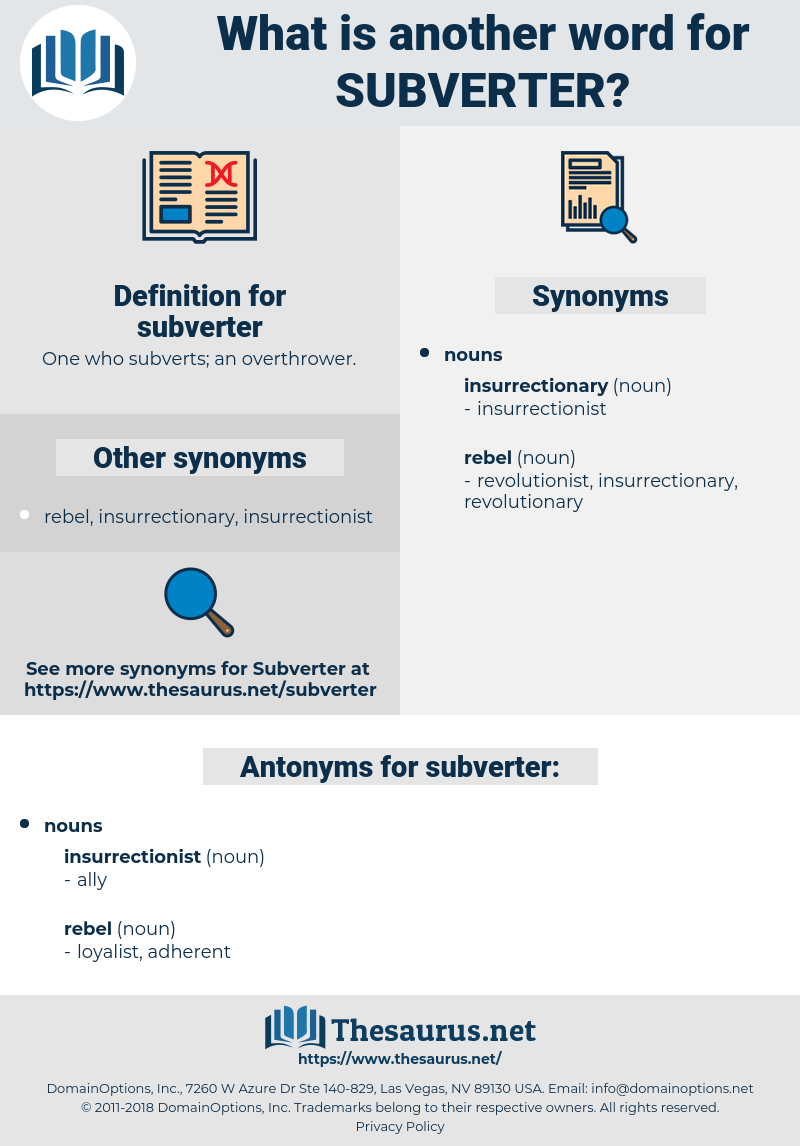 subverter, synonym subverter, another word for subverter, words like subverter, thesaurus subverter