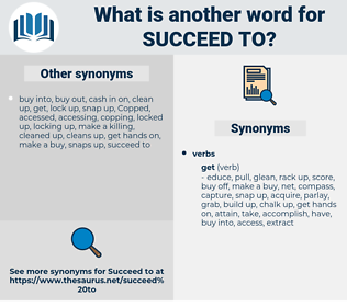 succeed to, synonym succeed to, another word for succeed to, words like succeed to, thesaurus succeed to