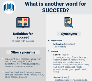 succeed, synonym succeed, another word for succeed, words like succeed, thesaurus succeed
