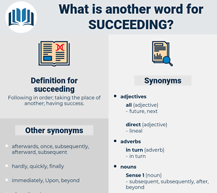 succeeding, synonym succeeding, another word for succeeding, words like succeeding, thesaurus succeeding