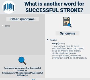 successful stroke, synonym successful stroke, another word for successful stroke, words like successful stroke, thesaurus successful stroke