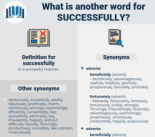 successfully, synonym successfully, another word for successfully, words like successfully, thesaurus successfully