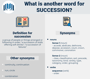 succession, synonym succession, another word for succession, words like succession, thesaurus succession