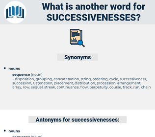 successivenesses, synonym successivenesses, another word for successivenesses, words like successivenesses, thesaurus successivenesses