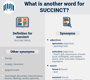 succinct, synonym succinct, another word for succinct, words like succinct, thesaurus succinct