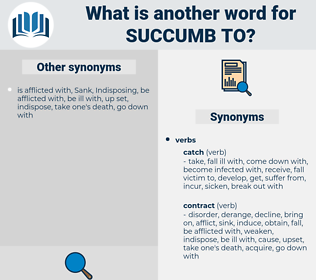 succumb to, synonym succumb to, another word for succumb to, words like succumb to, thesaurus succumb to