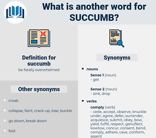 succumb, synonym succumb, another word for succumb, words like succumb, thesaurus succumb