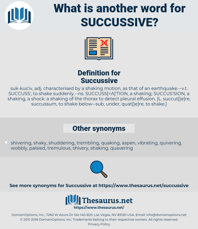 Succussive, synonym Succussive, another word for Succussive, words like Succussive, thesaurus Succussive