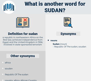 sudan, synonym sudan, another word for sudan, words like sudan, thesaurus sudan