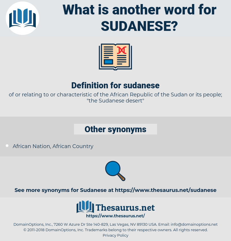 sudanese, synonym sudanese, another word for sudanese, words like sudanese, thesaurus sudanese