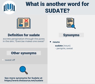 sudate, synonym sudate, another word for sudate, words like sudate, thesaurus sudate