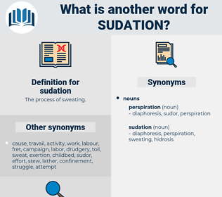 sudation, synonym sudation, another word for sudation, words like sudation, thesaurus sudation