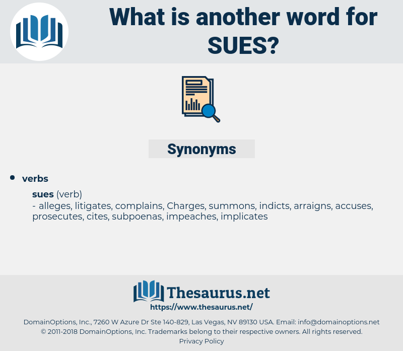 sues, synonym sues, another word for sues, words like sues, thesaurus sues