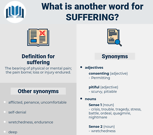 suffering, synonym suffering, another word for suffering, words like suffering, thesaurus suffering