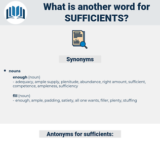 sufficients, synonym sufficients, another word for sufficients, words like sufficients, thesaurus sufficients