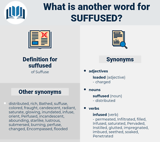 suffused, synonym suffused, another word for suffused, words like suffused, thesaurus suffused