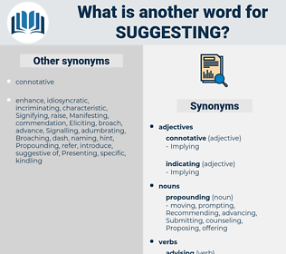 Suggesting, synonym Suggesting, another word for Suggesting, words like Suggesting, thesaurus Suggesting