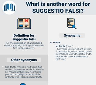 suggestio falsi, synonym suggestio falsi, another word for suggestio falsi, words like suggestio falsi, thesaurus suggestio falsi