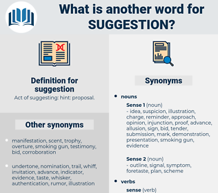 suggestion, synonym suggestion, another word for suggestion, words like suggestion, thesaurus suggestion