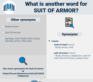 suit of armor, synonym suit of armor, another word for suit of armor, words like suit of armor, thesaurus suit of armor