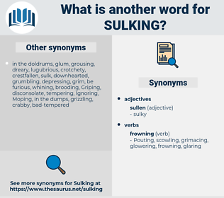 sulking, synonym sulking, another word for sulking, words like sulking, thesaurus sulking